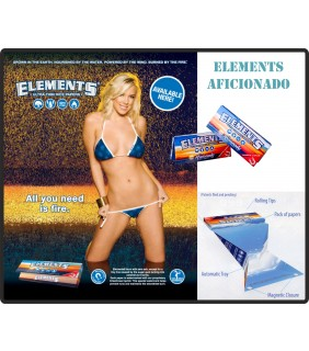 Cartine di riso ultra thin ELEMENTS AFICIONADO + filtri Slim King Size Box 15pz