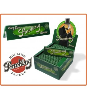 Smoking King Size Green - 1 pacchetto da 32 cartine