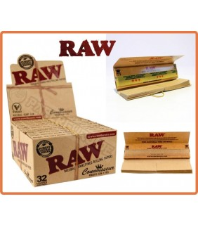 Raw Kingsize Slim + Tips 1 Pacchetto Da 32 Cartine